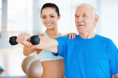 senior man having exercise